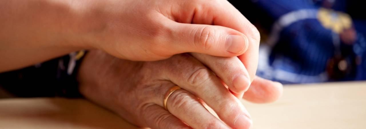 hand vasthouden